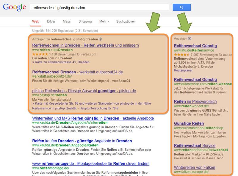 Google-AdWords-Suchergebnis