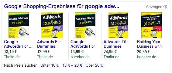 Google-AdWords-Produkt-Anzeigen