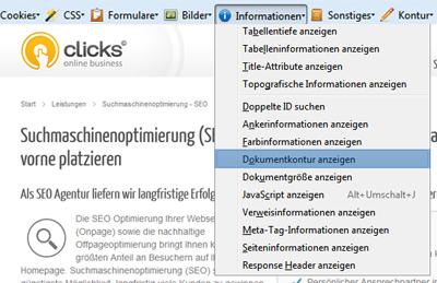 Web Developer für Firefox