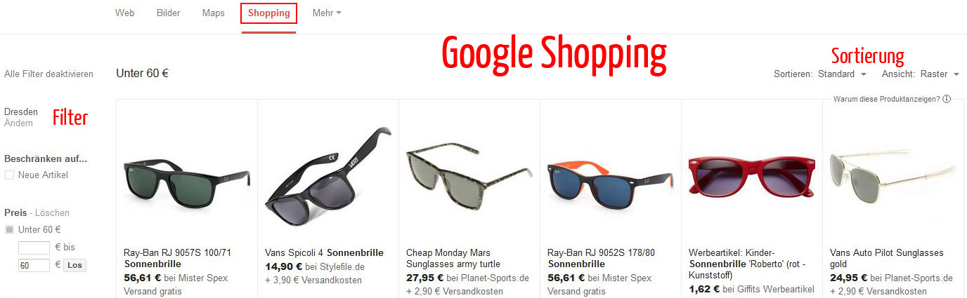 AdWords-Google-Shopping-Anzeigen