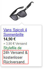 AdWords-Produkt-Anzeigen-Promotion