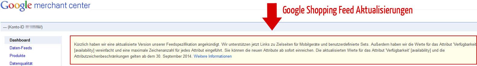 google-shopping-feed-aktualisierungen