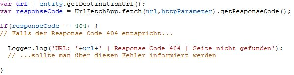 AdWords Script zum Monitoring von 404-Fehlern auf Zielseiten