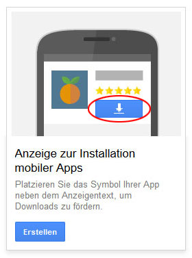 Mobile App Anzeige