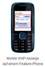 Mobile WAP Anzeige