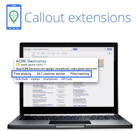 AdWords 2014: Callout Extensions