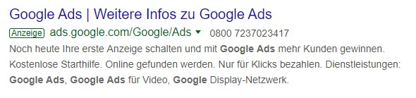 Übersicht Google Ads Kampagnentypen - Textanzeigen