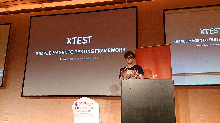 """#mm15de – Entwickler-Saal – BarCamp """"xTest - Simple Magento Testing Framwork"""" – Tobias Vogt"""