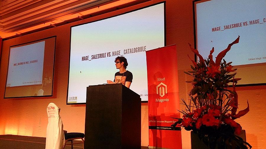 """#mm15de - Entwickler-Saal - Session """"Warenkorbpreisregeln – Verstehen & Erweitern & Entwickler"""" - Tobias Vogt"""