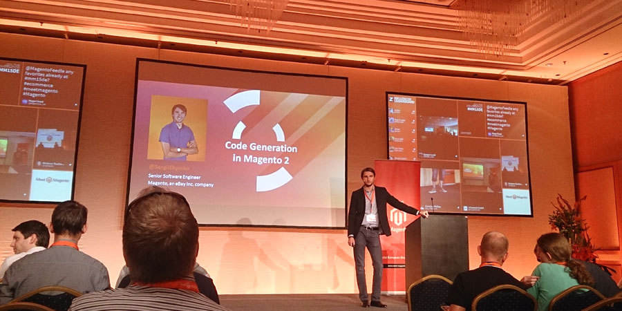 "#mm15de - Entwickler-Saal - Session ""Code Generation in Magento 2"" - Sergii Shymko"