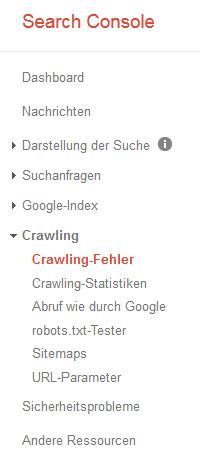 crawling fehler