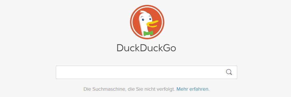 Suchmaschine DuckDuckGo