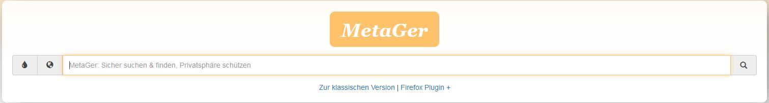Suchmaschine MetGer