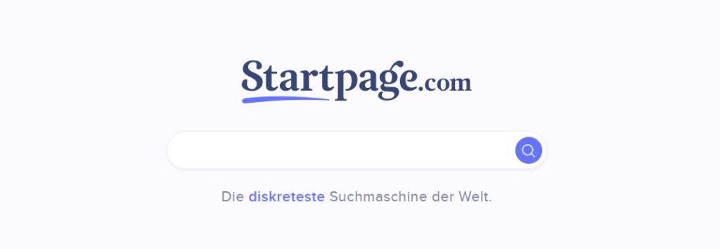 Suchmaschine Startpage