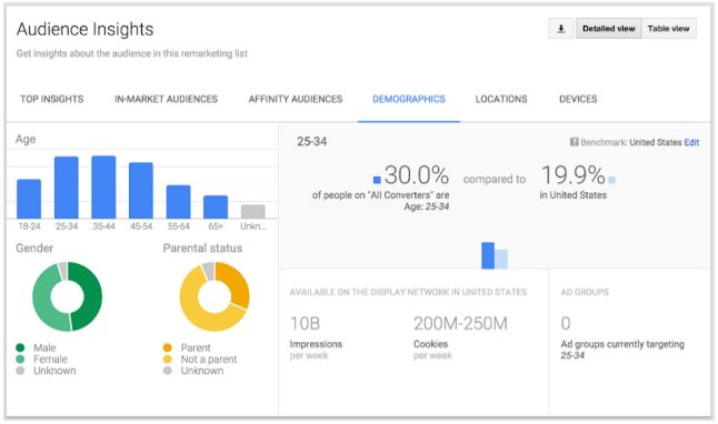Google AdWords/Google Ads Audience Insights