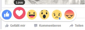 Facebook Reactions verkörpern mehr Emotionen als der bloße Like