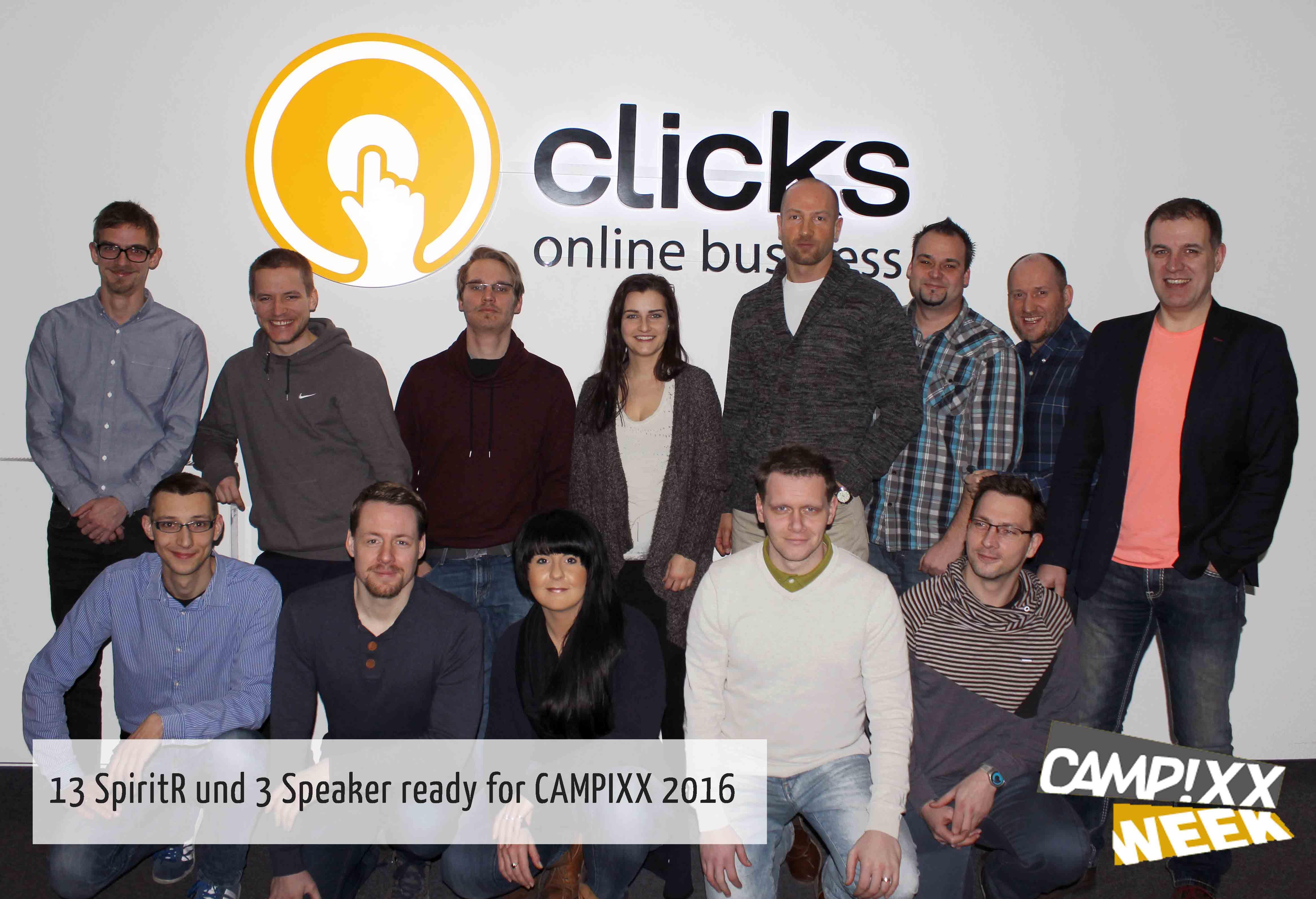 Clicks Online Business schickt 13 Mann zur Verstärkung auf die CAMPIXX