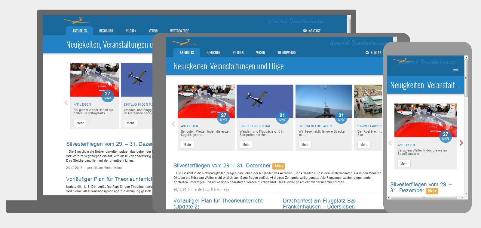 eine mobilfreundliche Website mit responsive Design