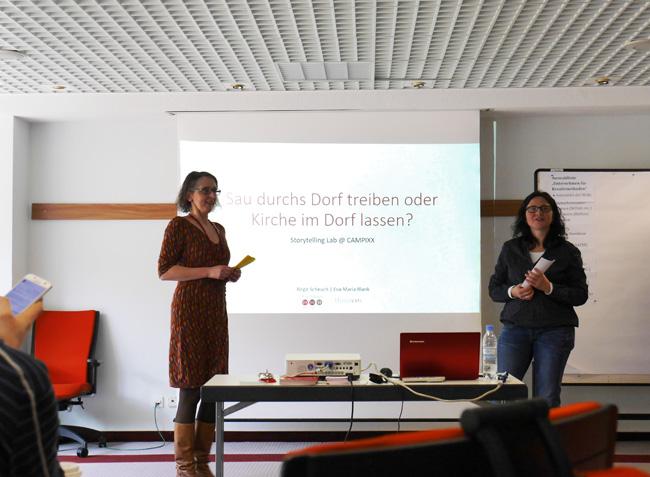 Das Storytelling Lab wurde gehalten von Eva-Maria Blank und Birgit Scheuch