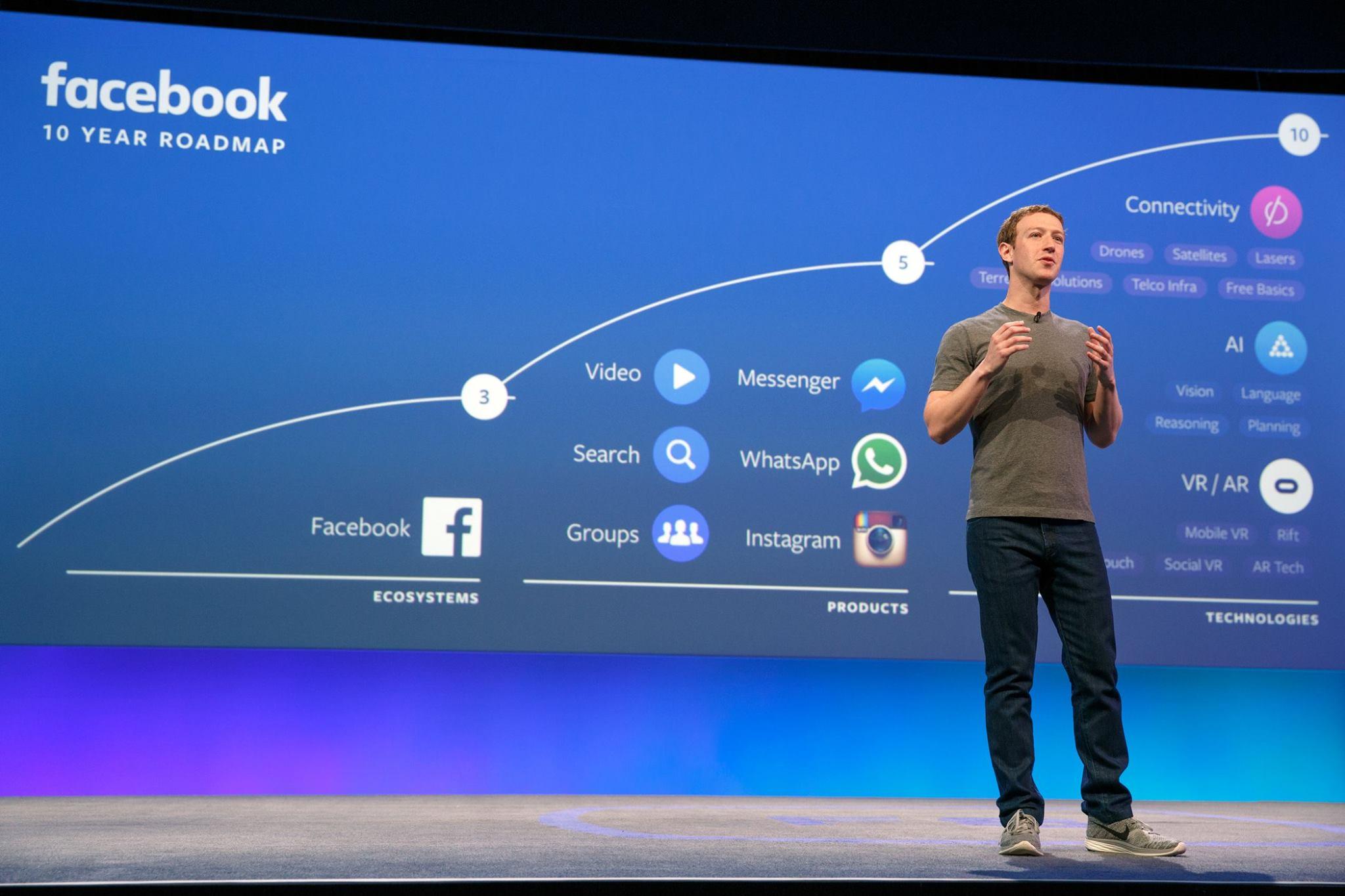 Mark Zuckerberg spricht auf der F8 Konferenz