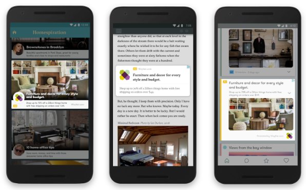 Screenshot zu einem Beispiel für die responsive Display Ads