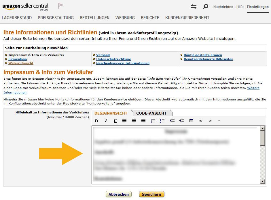 Amazon Impressum Link EU Streitschlichtung