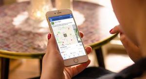Screenshot des Facebook Store Locators