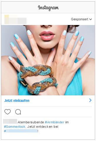 Instagram-Werbung-Beispielanzeige