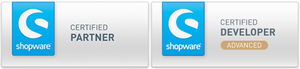 Clicks ist Shopware Certified Partner und Certified Advanced Developer