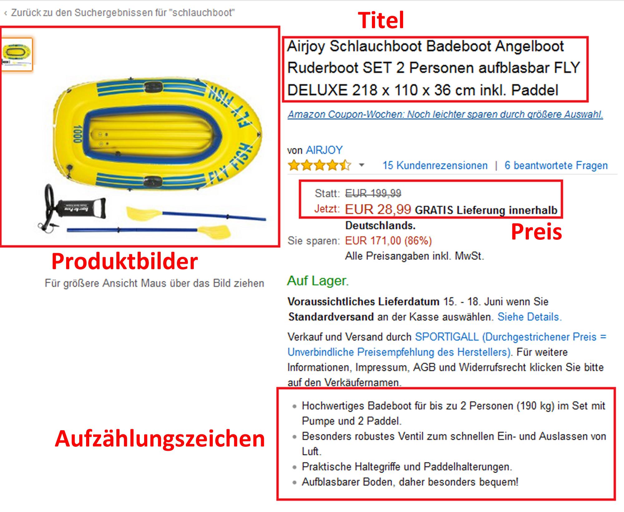 Amazon-SEO Schlauchboot
