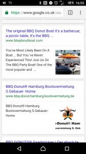 """Rich Cards für Ergebnisse der Suche """"Barbecue Donut"""""""