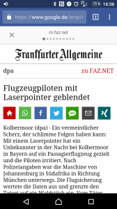 Accelerated Mobile Page der Frankfurter Allgemeine