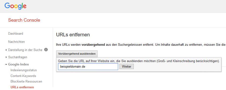 google-search-console-urls-entfernen