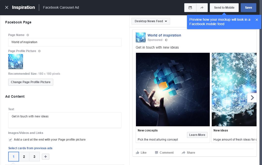 die Creative Hub von Facebook
