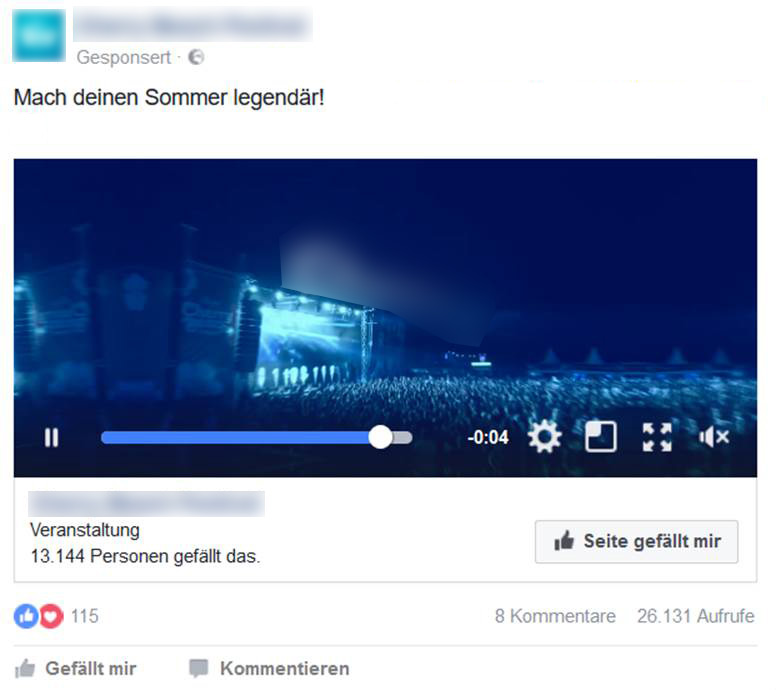 Video-Ad im Facebook