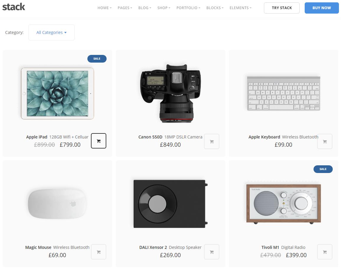 Schematische Produktboxen Darstellung - clean und intuitiv
