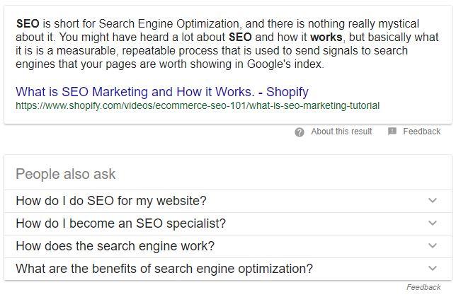 Screenshot Suchergebnis People Also Asked
