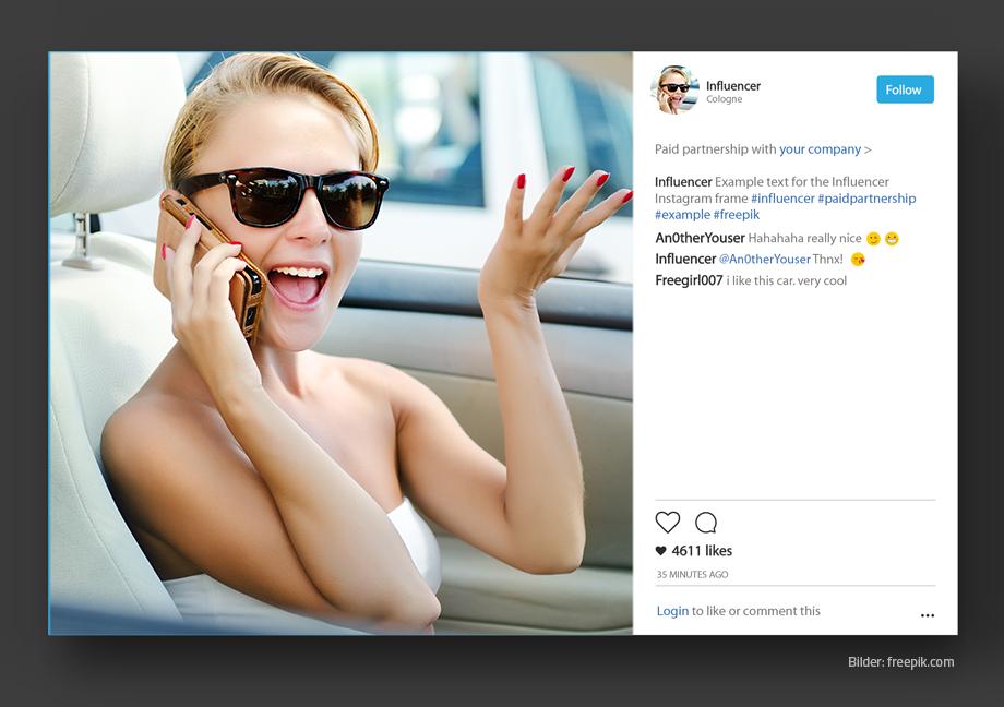 bezahlte Partnerschaft auf Instagram