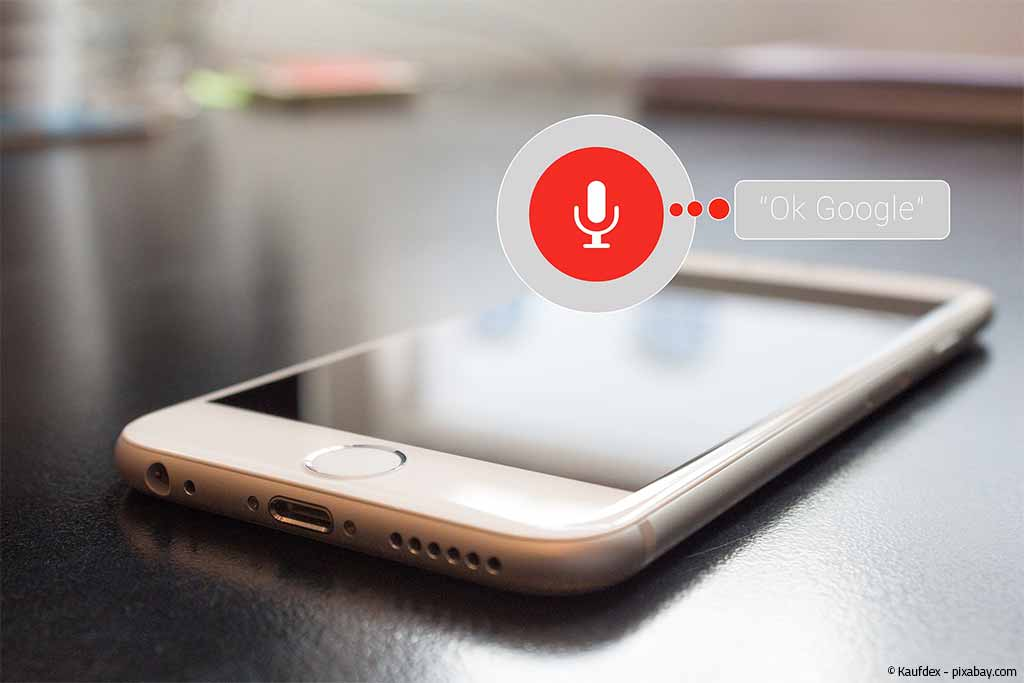 Voice Search auf einem Smartphone