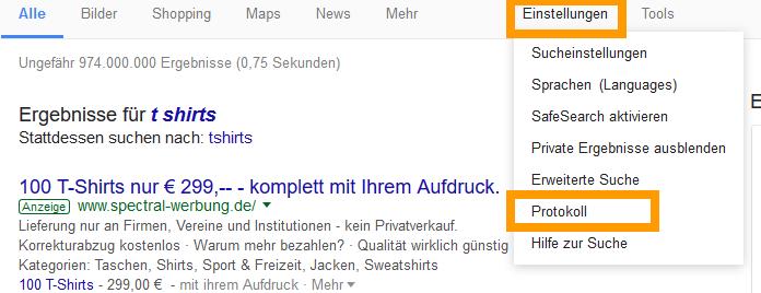 Google Verlauf