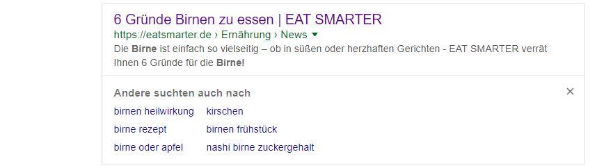 Screenshot Google Suchvorschläge
