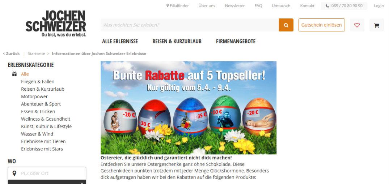 Screenshot von www.jochen-schweizer.de