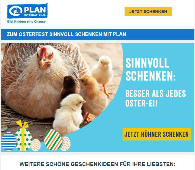 Newsletter von Plan International