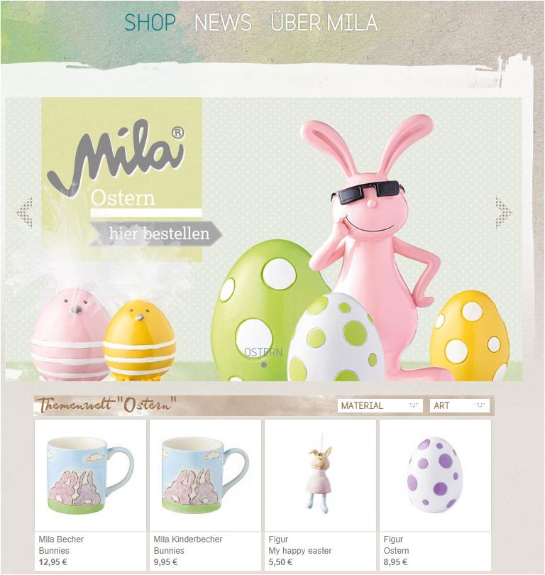 Mila Ostern Onlineshop