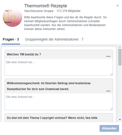 Facebook Gruppe Thermomix