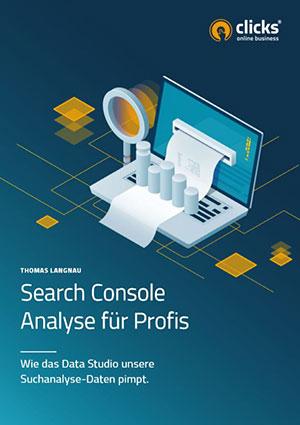 Deckblatt vom eBook: Search Console - Analyse für Profis