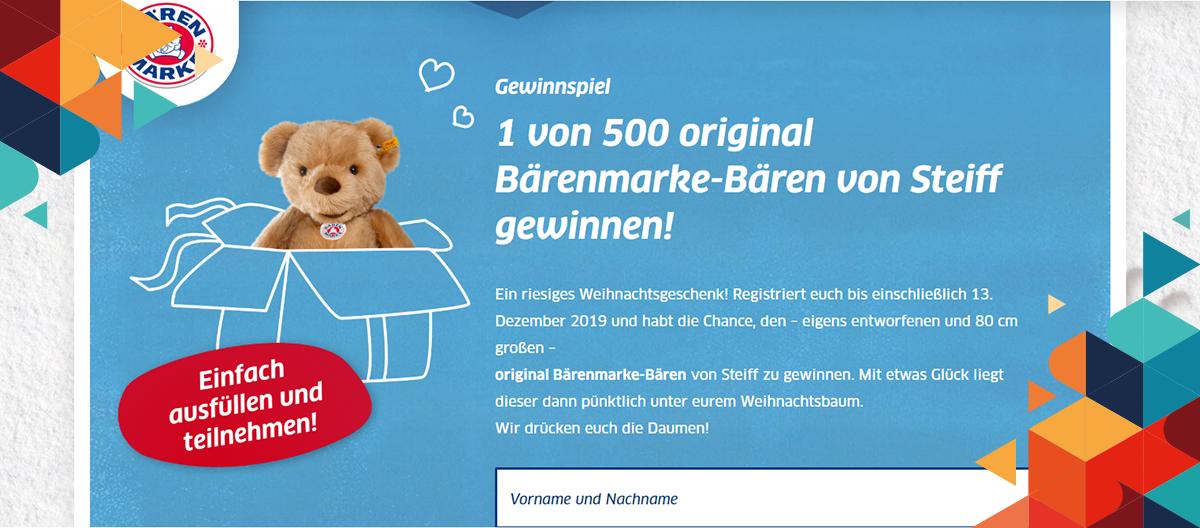 Gewinnspiel Newsletter Bärenmarke
