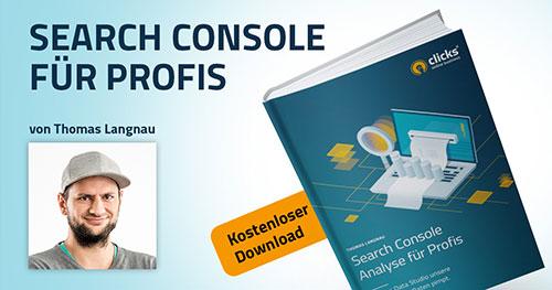 Deckblatt E-Book: Search Console für Profis