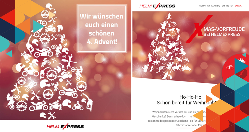 Helmexpress Newsletter und Social Media