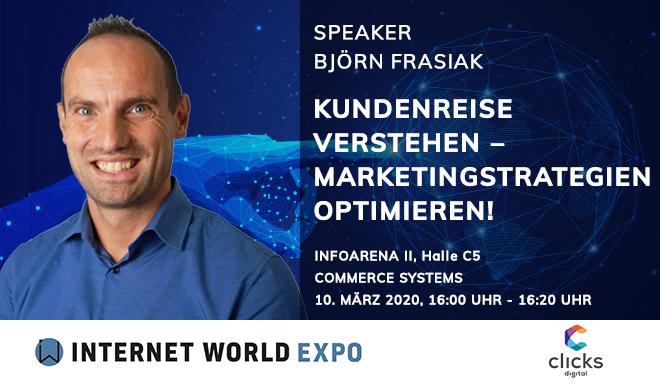 Björn Frasiak spricht auf der IWExpo 2020